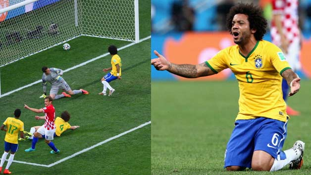 marcelo own goal world cup 2014