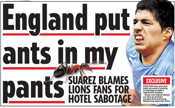 Suarez accuses ngland ahead of game